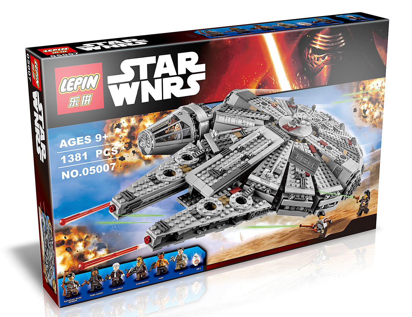 1381+ PCS Building Bricks, LP 05007 Building Blocks 75105 Star Wars Millennium Falcon.