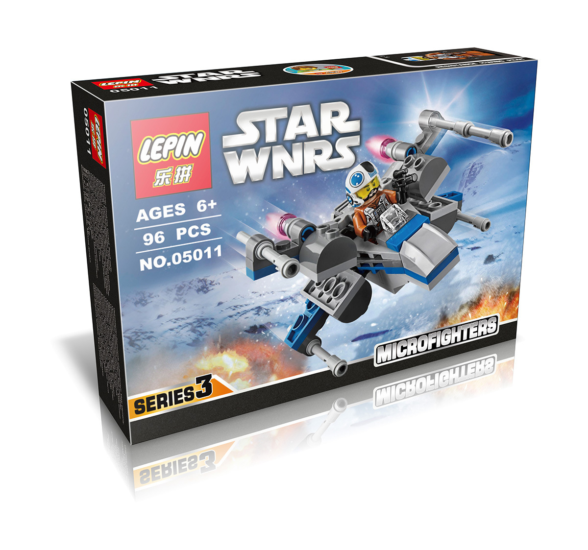 96+ PCS Building Bricks, LP 05011 Building Blocks 75125 Star Wars Resistance X-Wing Fighter.