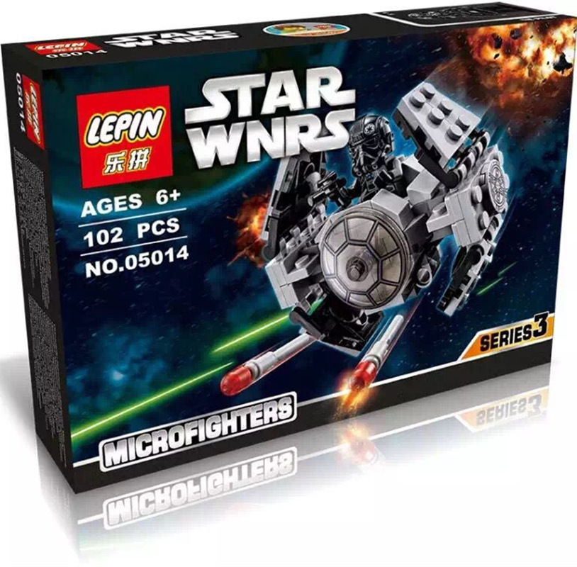 99+ PCS Building Bricks, LP 05014 Building Blocks 75128 Star Wars TIE Advanced Prototype.