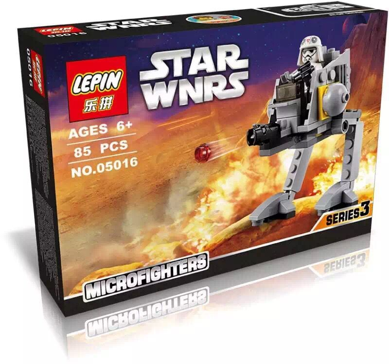 82+ PCS Building Bricks, LP 05016 Building Blocks 75130 Star Wars AT-DP.