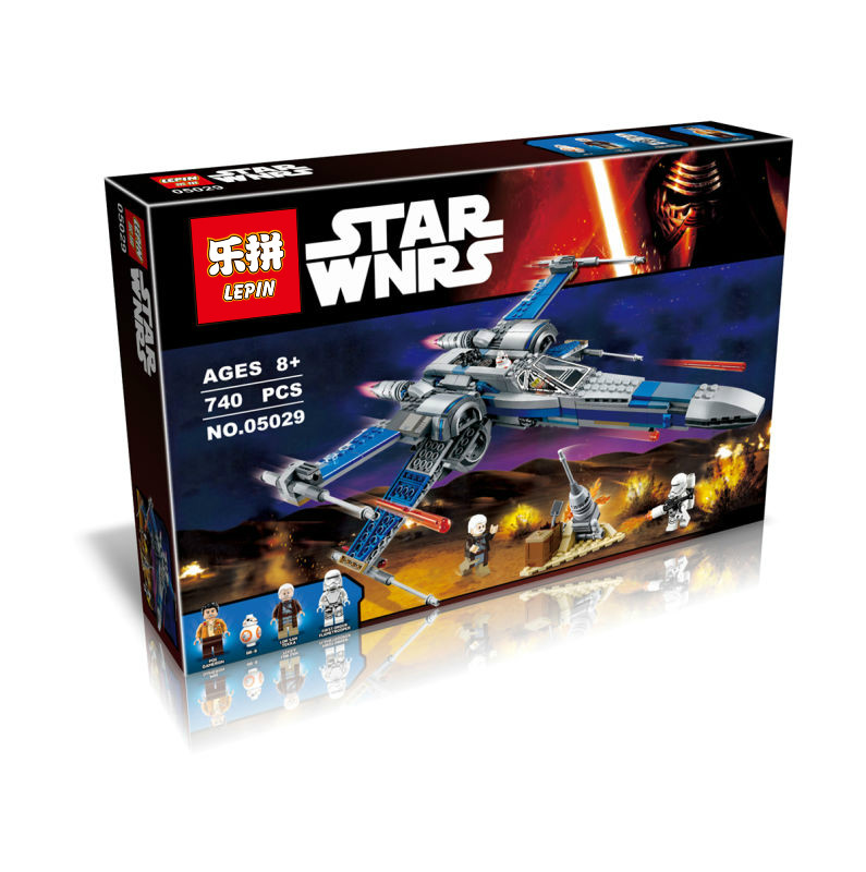 740+ PCS Building Bricks, LP 05029 Building Blocks 75149 Star Wars Resistance X-Wing Fighter.