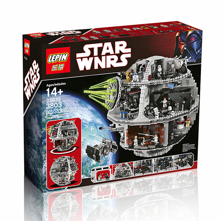 3803+ PCS Building Bricks, LP 05035 Building Blocks 10188 Star Wars Death Star.