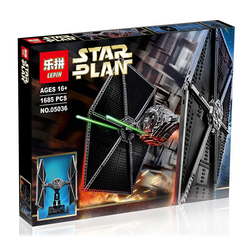 1685+ PCS Building Bricks, LP 05036 Building Blocks 75095 Star Wars TIE Fighter.