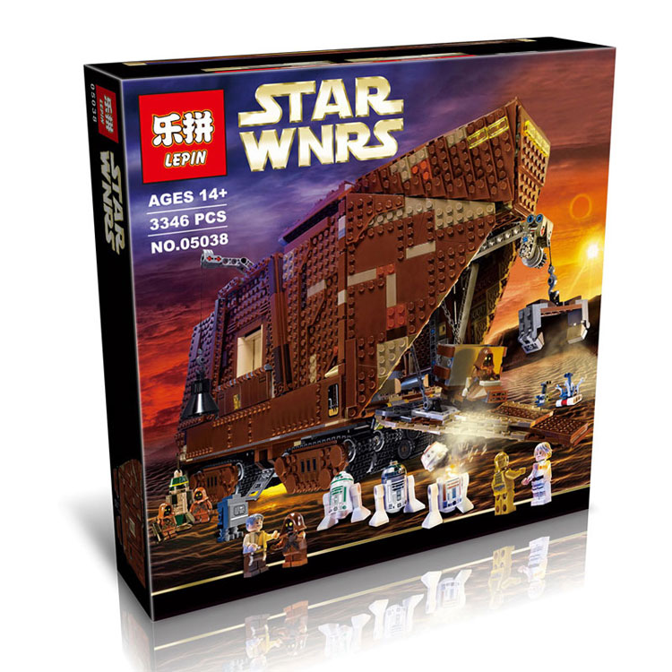 3346+ PCS Building Bricks, LP 05038 Building Blocks 75059 Star Wars Sandcrawler.