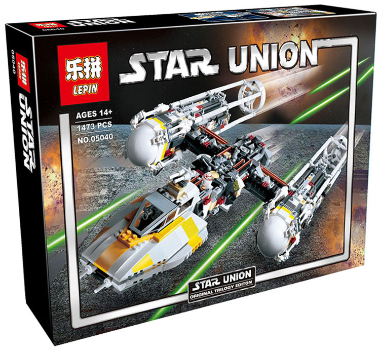 1473+ PCS Building Bricks, LP 05040 Building Blocks 10134 Star Wars Y-wing Attack Starfighter.
