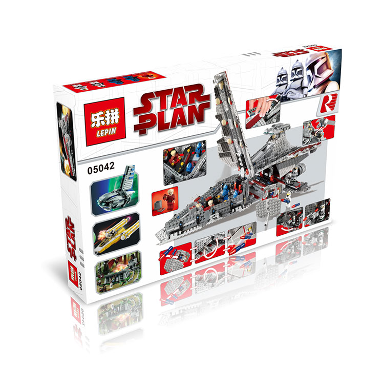 1200+ PCS Building Bricks, LP 05042 Building Blocks 8039 Star Wars Venator-Class Republic Attack Cruiser.