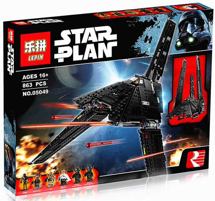 863+ PCS Building Bricks, LP 05049 Building Blocks 75156 Star Wars Krennic's Imperial Shuttle.