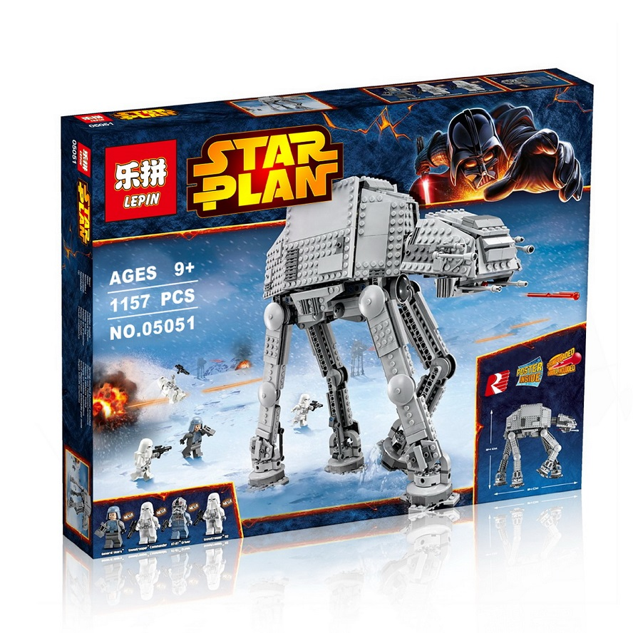 1157+ PCS Building Bricks, LP 05051 Building Blocks 75054 Star Wars AT-AT.