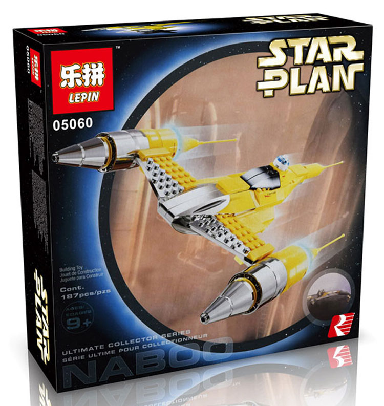 187+ PCS Building Bricks, LP 05060 Building Blocks 10026 Star Wars Special Edition Nabu Starfighter.