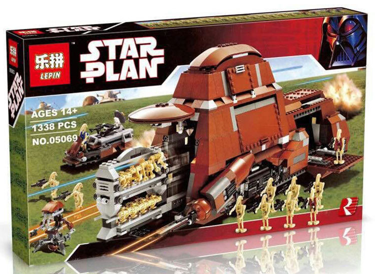1338+ PCS Building Bricks, LP 05069 Building Blocks 7662 Star Wars Trade Federation MTT.