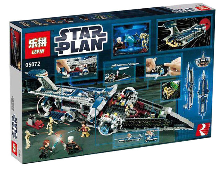 1192+ PCS Building Bricks, LP 05072 Building Blocks 9515 Star Wars The Malevolence.
