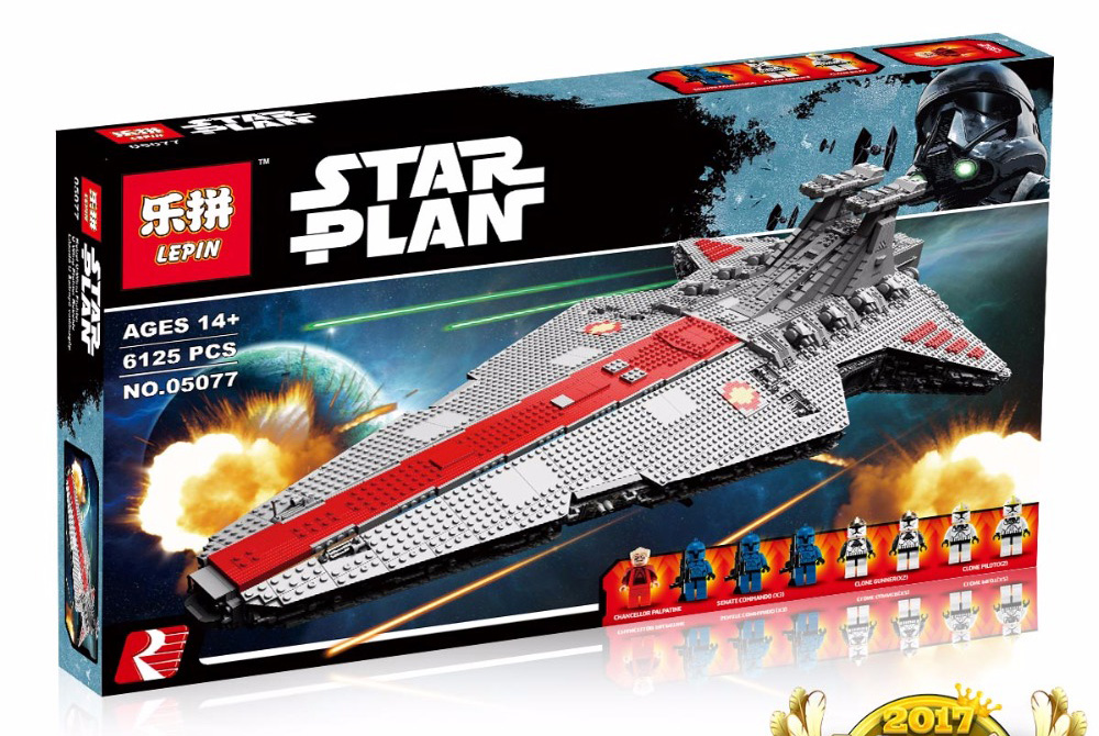 6125+ PCS Building Bricks, LP 05077 Building Blocks Star Wars UCS Venator Class Star Destroyer.