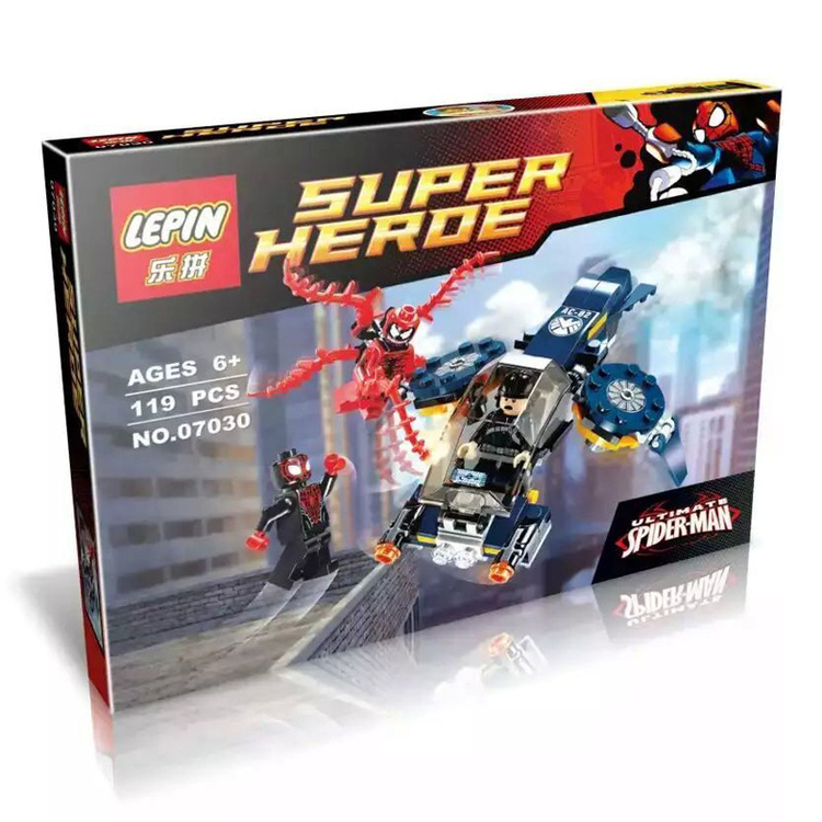 119+ PCS Building Bricks, LP 07030 Building Blocks Super Heroes 76036 Carnage's SHIELD Sky Attack.