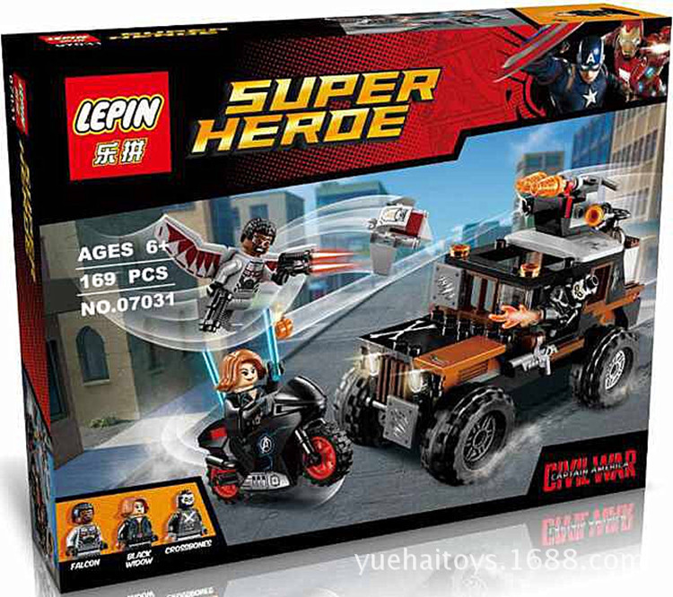 204+ PCS Building Bricks, LP 07031 Building Blocks Super Heroes 76050 Crossbones' Hazard Heist.