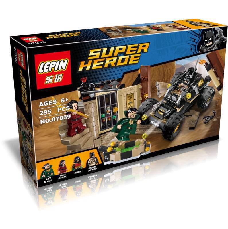 295+ PCS Building Bricks, LP 07039 Building Blocks Super Heroes 76056 Batman: Rescue from Ra's al Ghul.