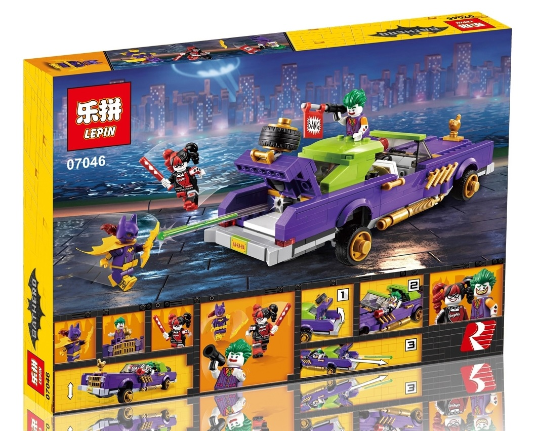 433+ PCS Building Bricks, LP 07046 Building Blocks Batman Movie 70906 The Joker Notorious Low Rider.