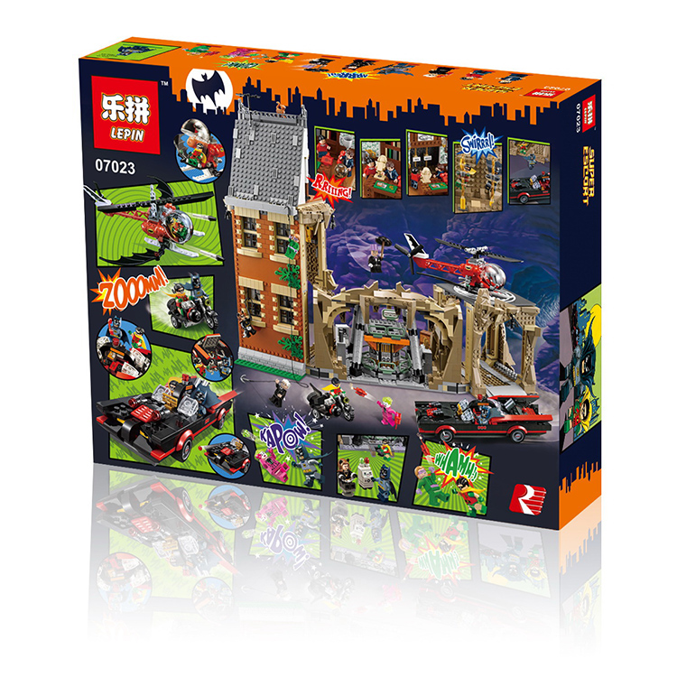 2566+ PCS Building Bricks, LP 07053 Building Blocks Super Heroes 76052 Batman Classic TV Series  Batcave.