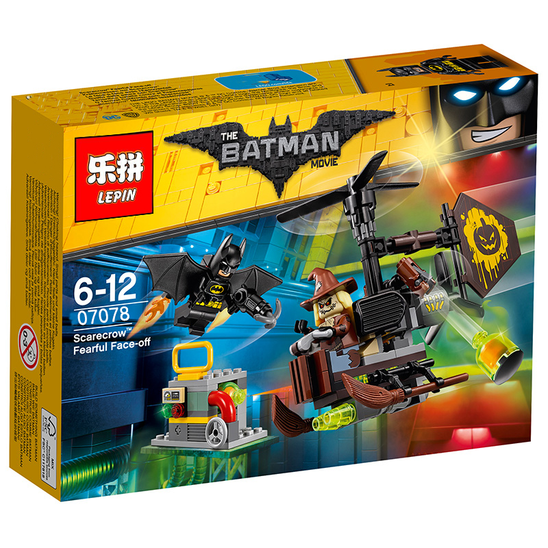 156+ PCS Building Bricks, LP 07078 Building Blocks Batman Movie 70913 Scarecrow Fearful Face-off.