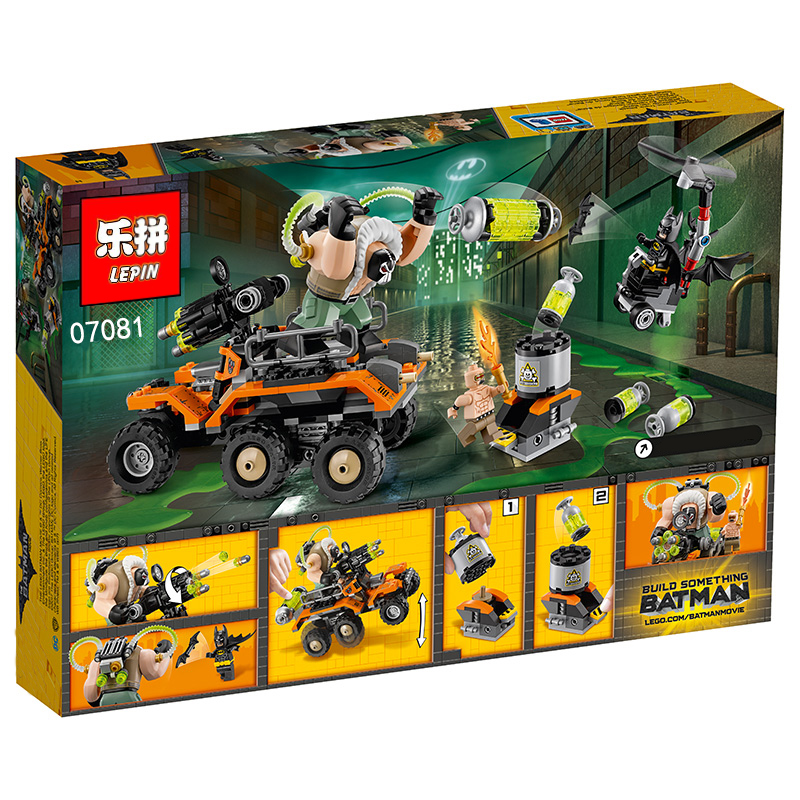 396+ PCS Building Bricks, LP 07081 Building Blocks Batman Movie 70913 Scarecrow Fearful Face-off.