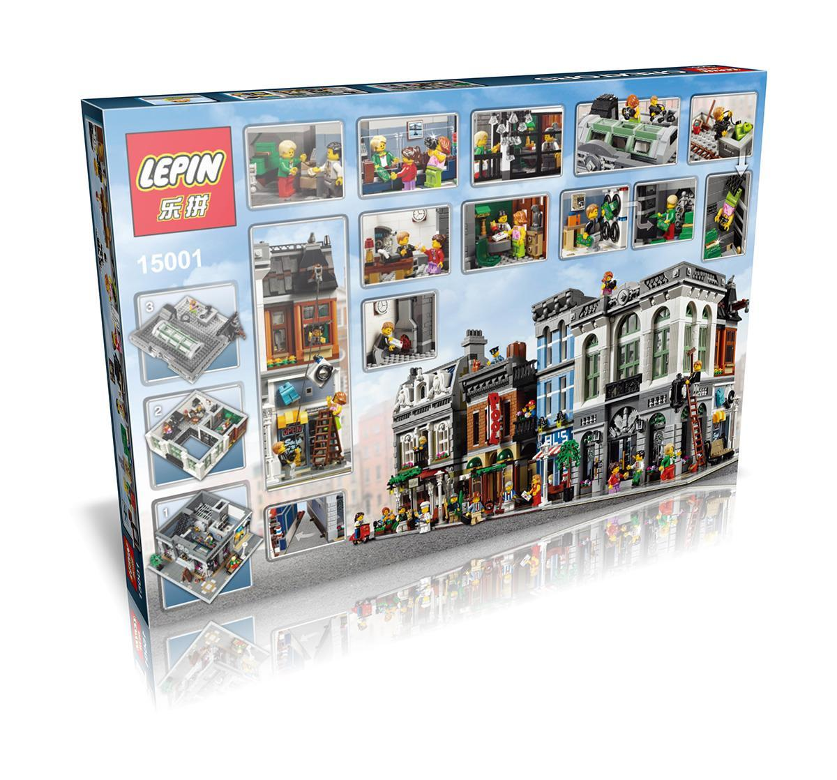 2413+ PCS Building Bricks, LP 15001 Building Blocks Creator 10251 Brick Bank.