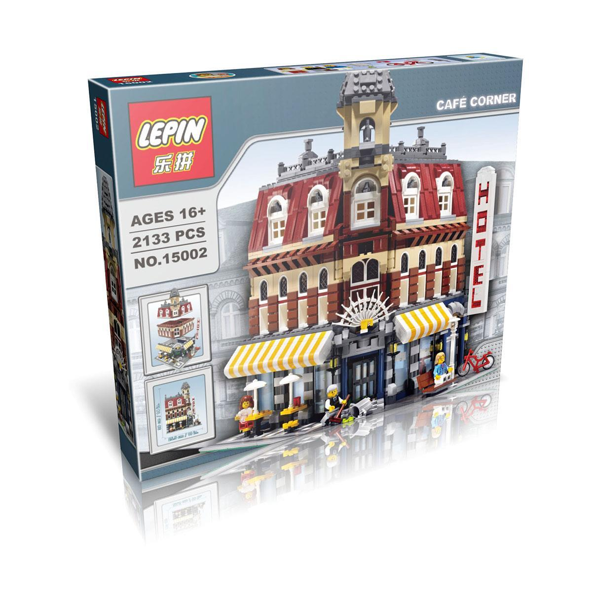 2133+ PCS Building Bricks, LP 15002 Building Blocks Creator 10182 Cafe Corner.