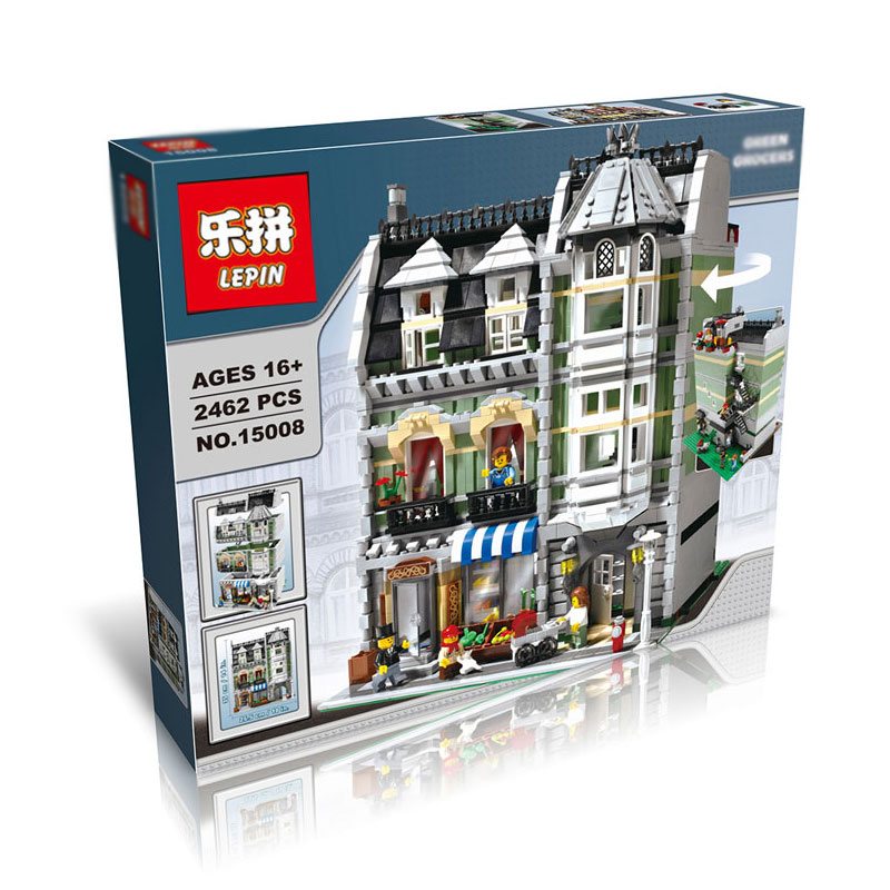 2462+ PCS Building Bricks, LP 15008 Building Blocks Creator 10185 Green Grocer.