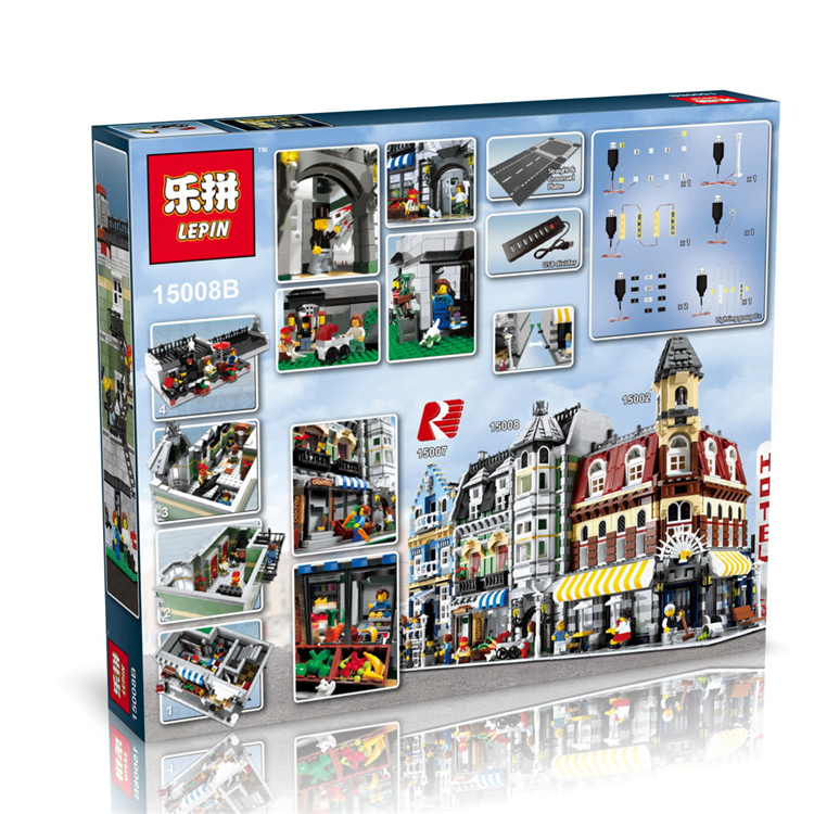 2460+ PCS Building Bricks, LP 15008B Building Blocks Creator 10185 Green Grocer.