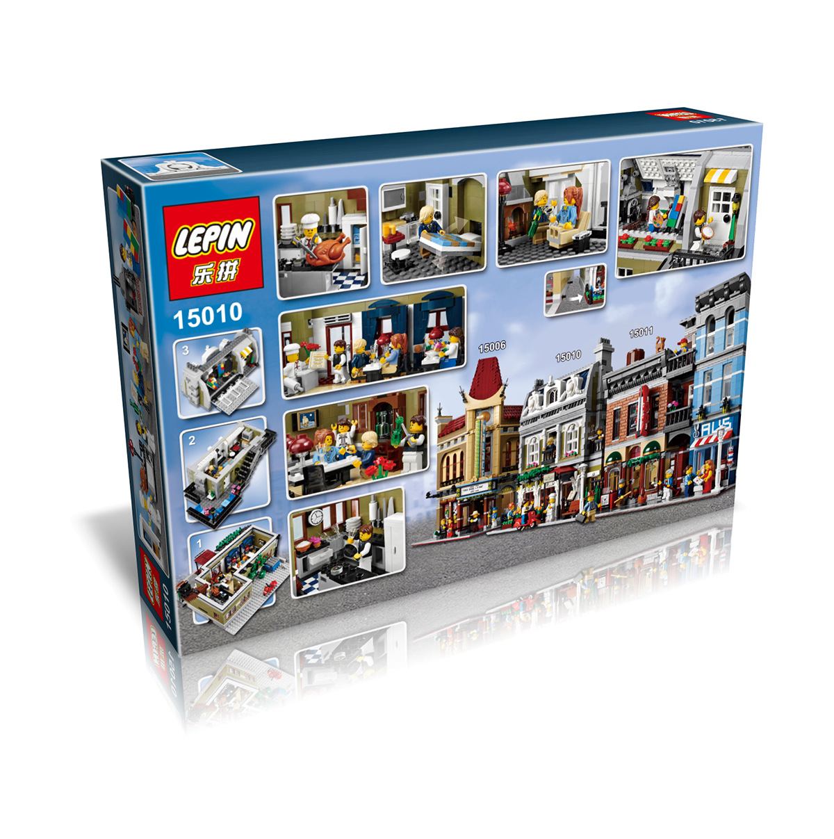 2418+ PCS Building Bricks, LP 15010 Building Blocks Creator 10243 Parisian Restaurant.