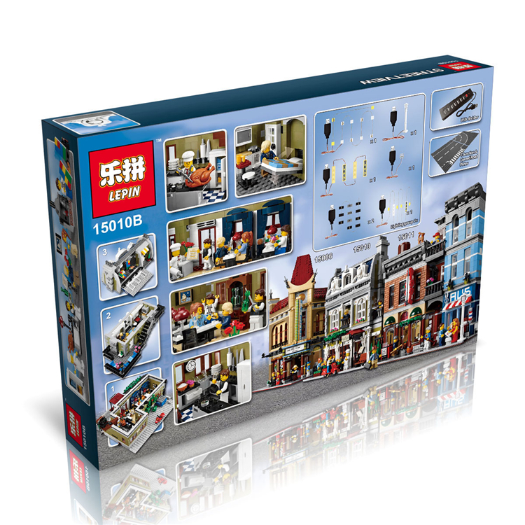 2418+ PCS Building Bricks, LP 15010B Building Blocks Creator 10243 Parisian Restaurant.