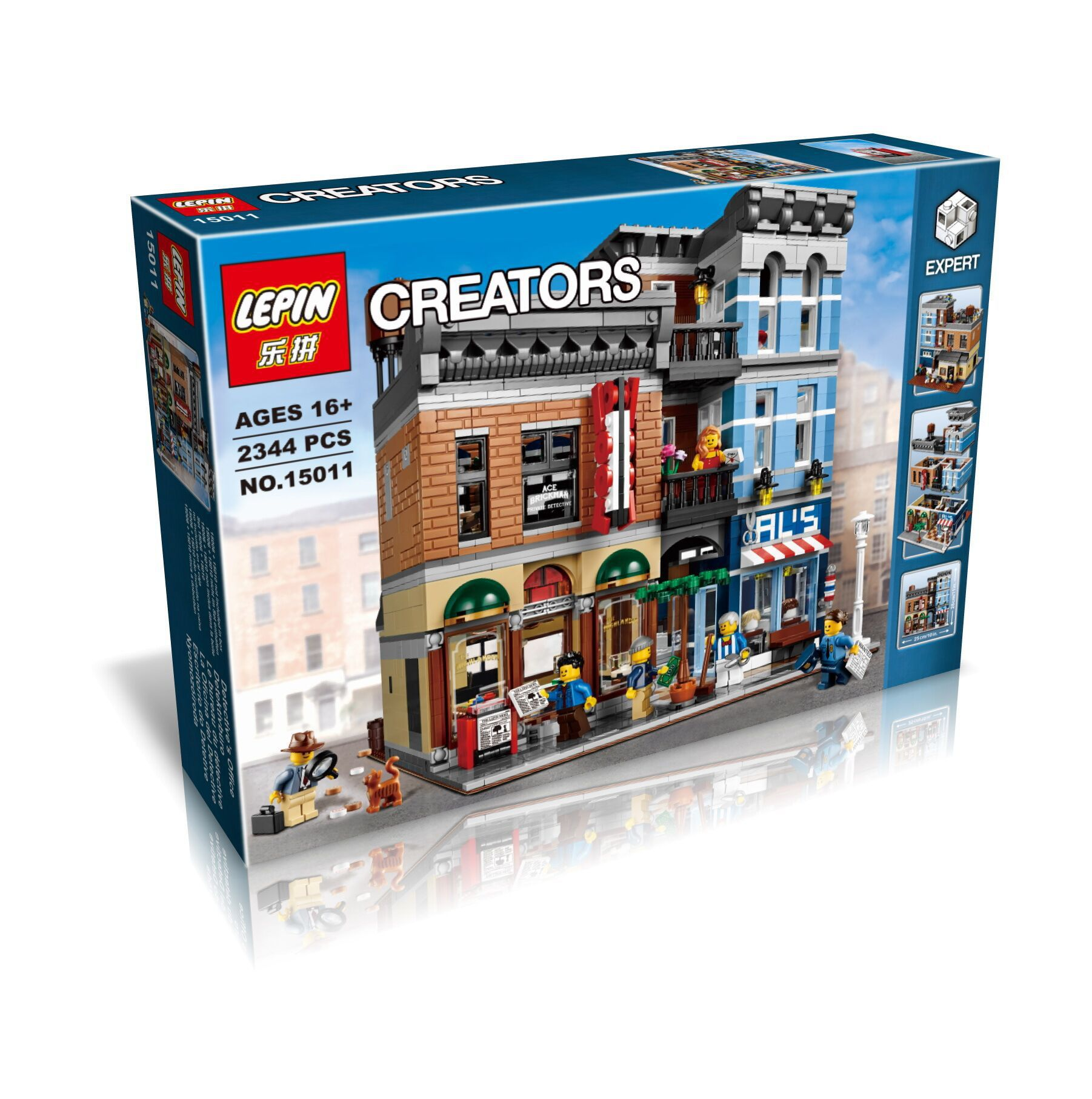 2262+ PCS Building Bricks, LP 15011 Building Blocks Creator 10246 Detective's Office.