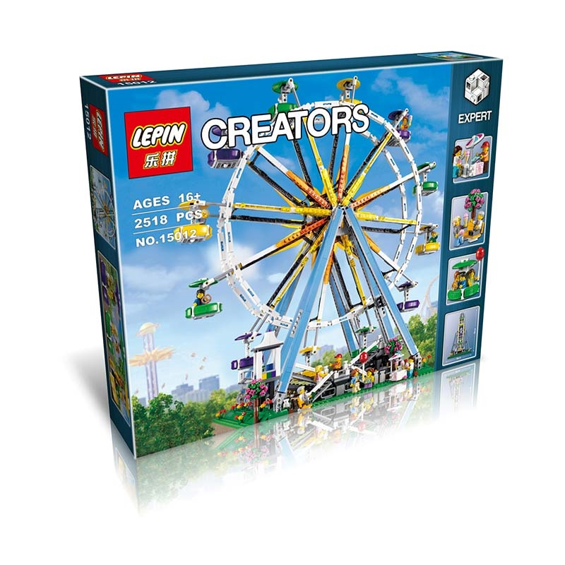 2518+ PCS Building Bricks, LP 15012 Building Blocks Creator 10247 Ferris Wheel.