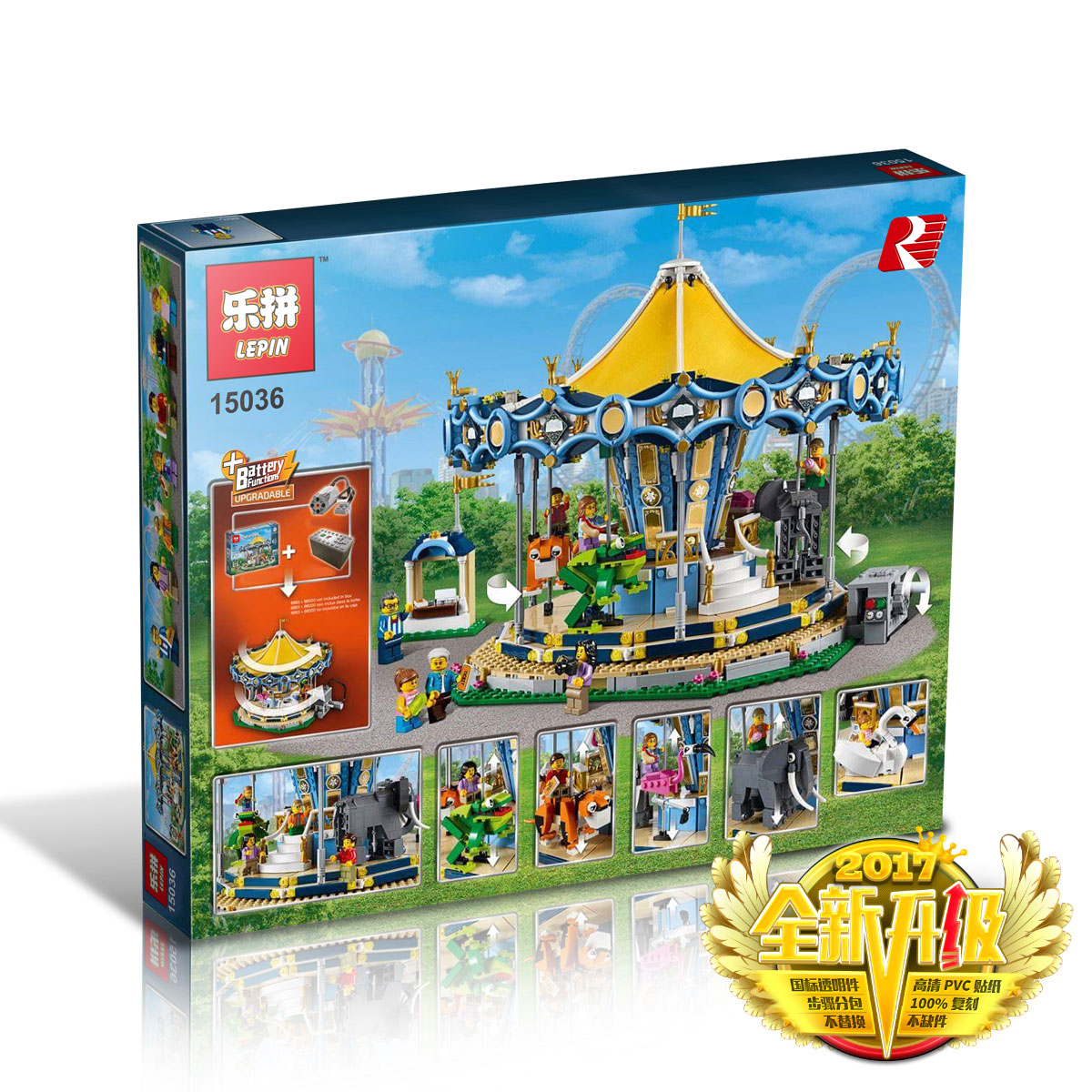 2705+ PCS Building Bricks, LP 15036 Building Blocks Creator 10257 Carousel.