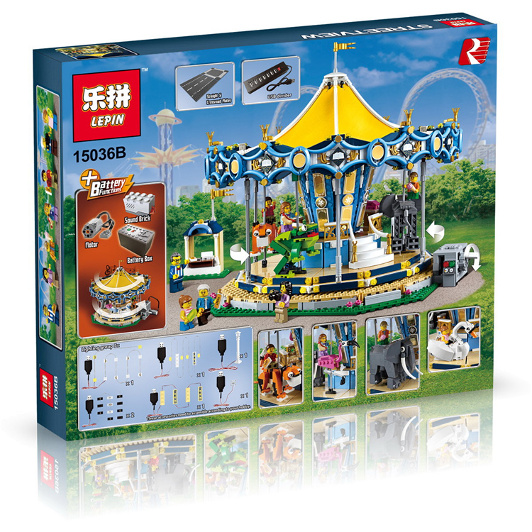 2755+ PCS Building Bricks, LP 15036B Building Blocks Creator 10257 Carousel.