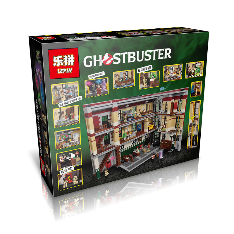 4695+ PCS Building Bricks, LP 16001 Building Blocks Ghostbusters 75827 Firehouse Headquarters.