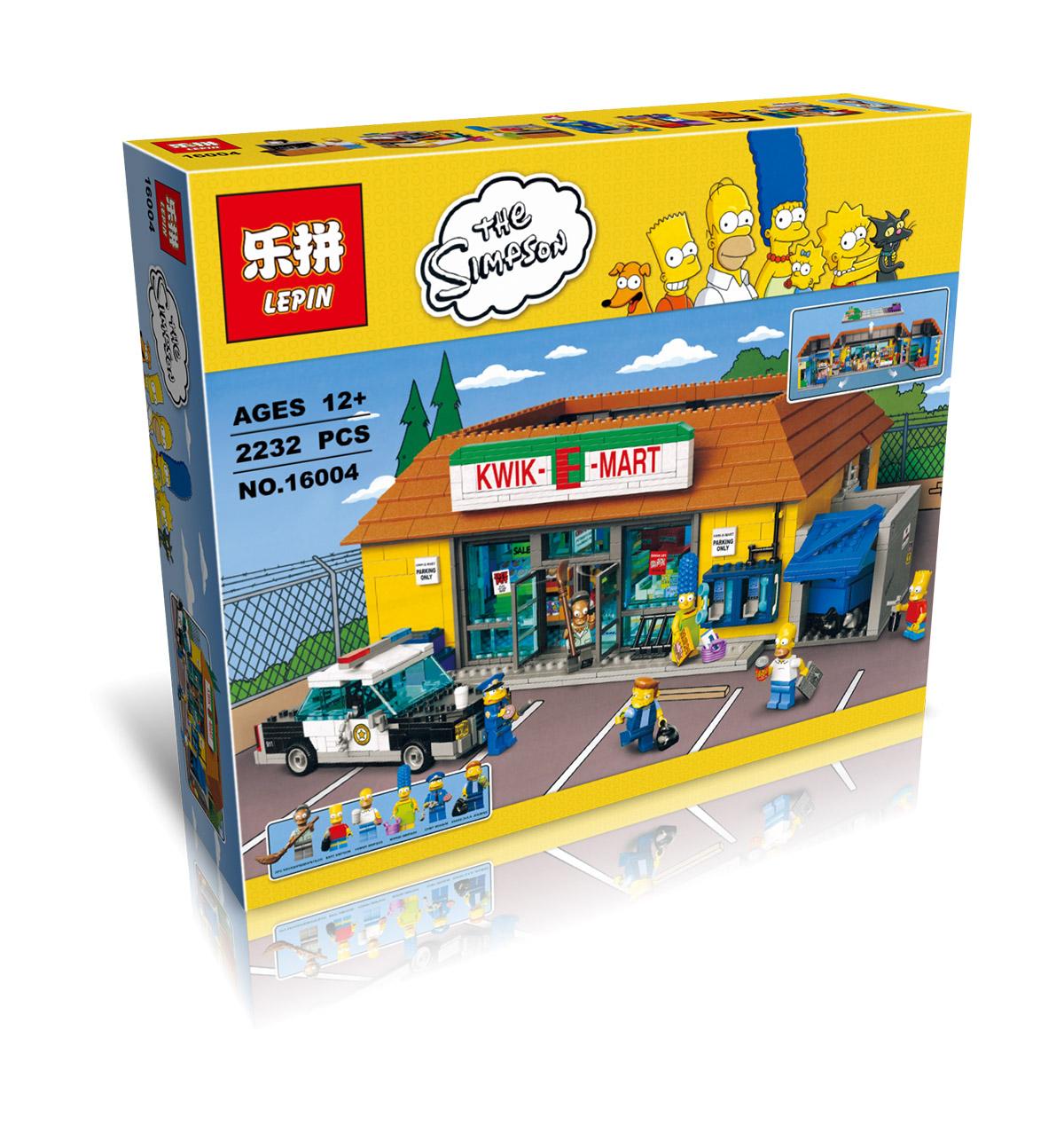 2232+ PCS Building Bricks, LP 16004 Building Blocks Simpsons 71016 The Kwik-E-Mart.