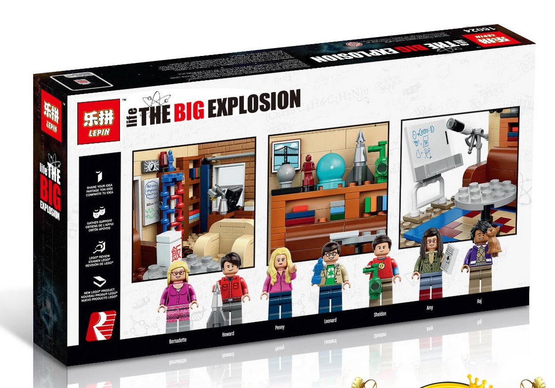 534+ PCS Building Bricks, LP 16024 Building Blocks Ideas 21302 The Big Bang Theory.