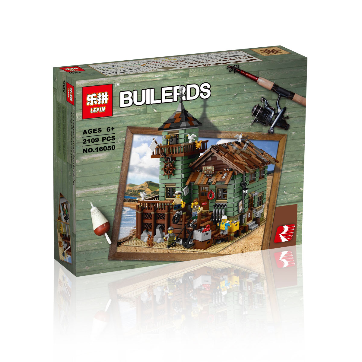 2109+ PCS Building Bricks, LP 16050 Building Blocks Ideas 21310 Old Fishing Store.