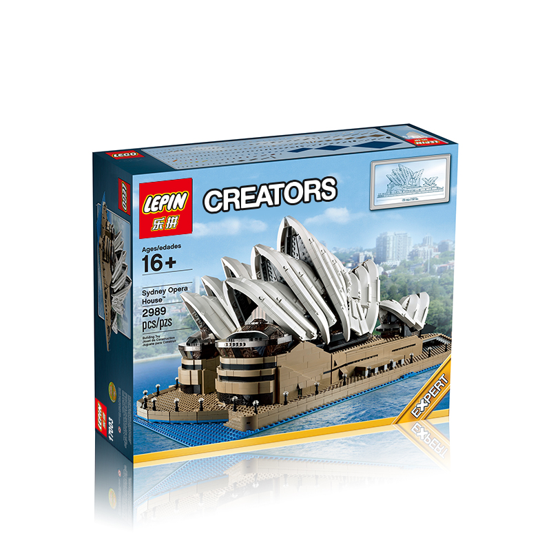 2989+ PCS Building Bricks, LP 17003 Building Blocks Creator 10234 Sydney Opera House.