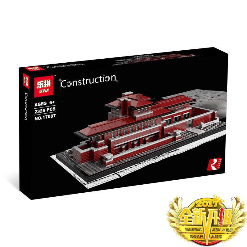 2326+ PCS Building Bricks, LP 17007 Building Blocks 21010 Architecture Robie House.