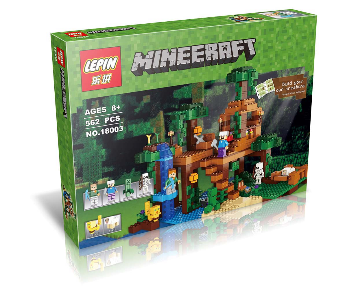 562+ PCS Building Bricks, LP 18003 Building Blocks Minecraft 21125 The Jungle Tree House.