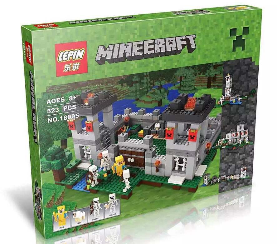 795+ PCS Building Bricks, LP 18005 Building Blocks Minecraft 21127 The Fortress.