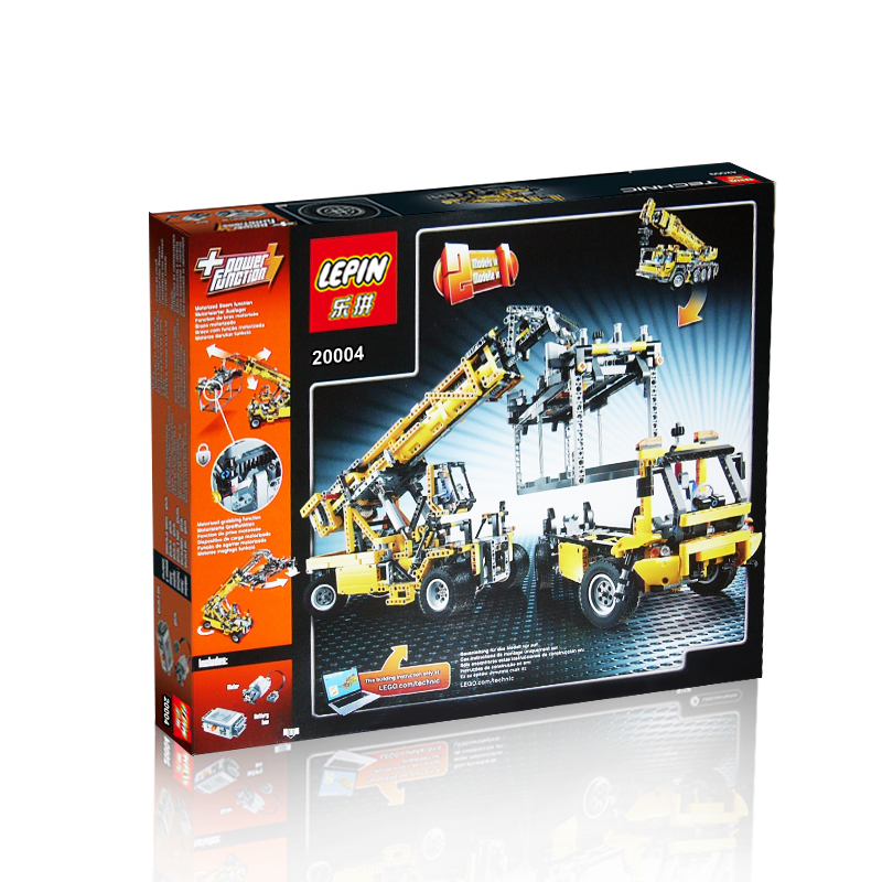 2606+ PCS Building Bricks, LP 20004 Building Blocks Technic 42009 Mobile Crane MK II.