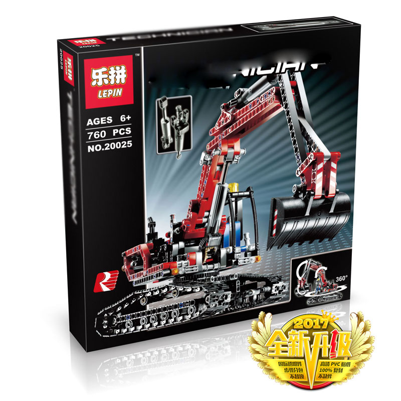 760+ PCS Building Bricks, LP 20025 Building Blocks Technic 8294 Excavator.