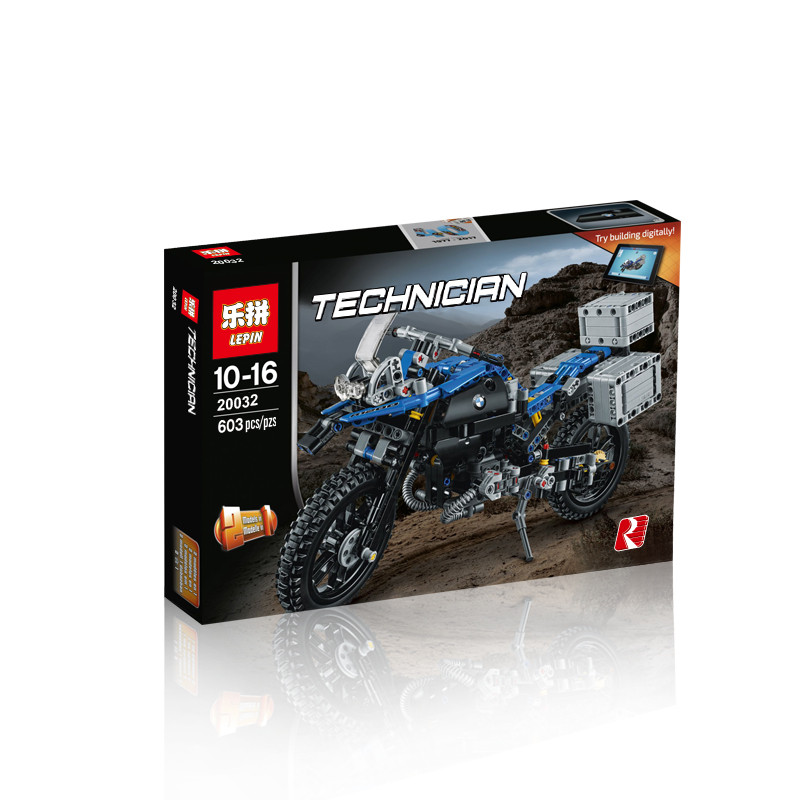 603+ PCS Building Bricks, LP 20032 Building Blocks Technic 42063 BMW R 1200 GS Adventure.
