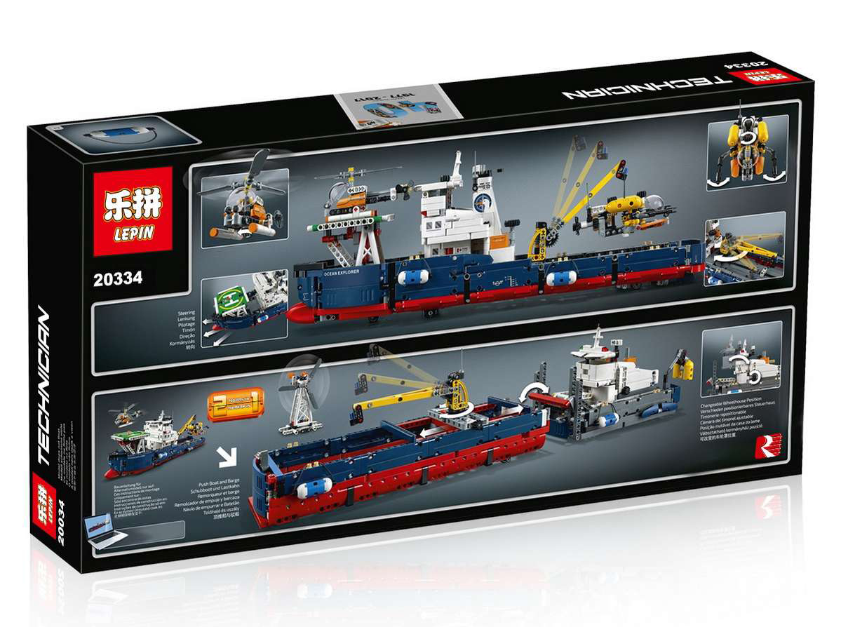 1347+ PCS Building Bricks, LP 20034 Building Blocks Technic 42064 Ocean Explorer.