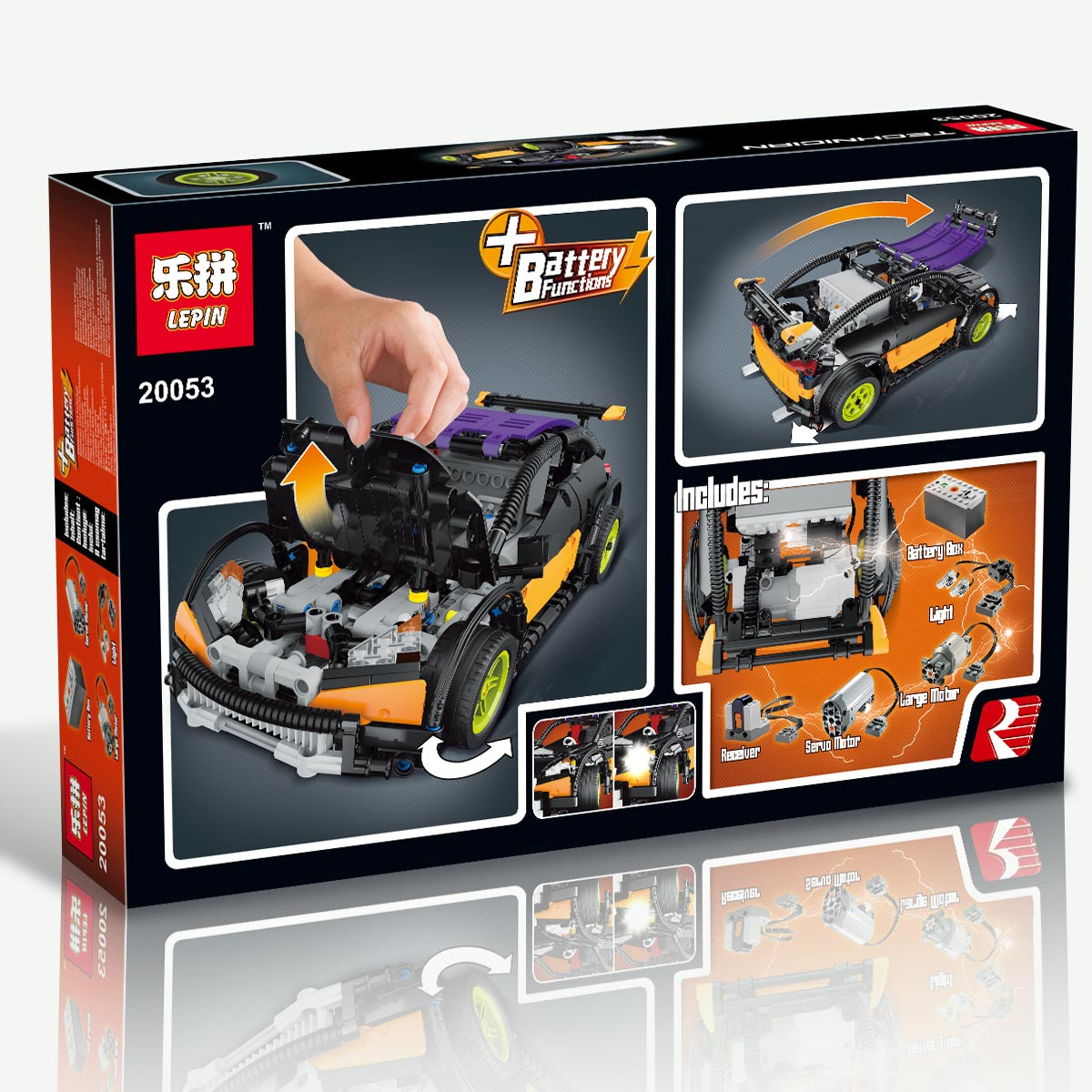 640+ PCS Building Bricks, LP 20053 Building Blocks Technic MOC Remote Control Hatchback Type R.
