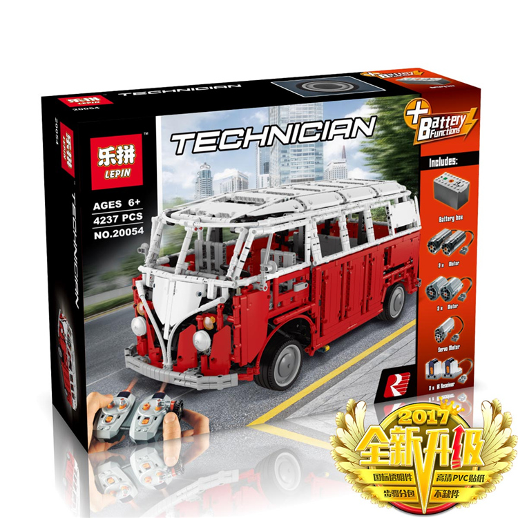 4237+ PCS Building Bricks, LP 20054 Building Blocks Technic MOC Remote Control T1 Classic Volkswagen Camper.