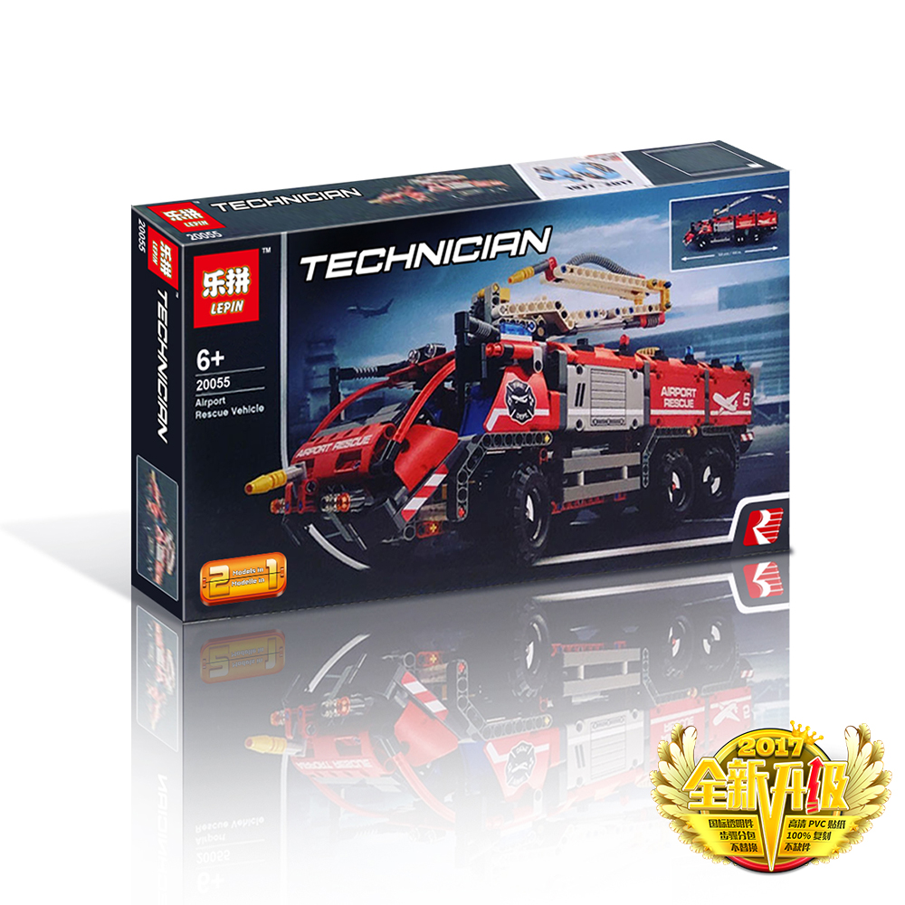 1180+ PCS Building Bricks, LP 20055 Building Blocks Technic 442068 Airport Rescue Vehicle.
