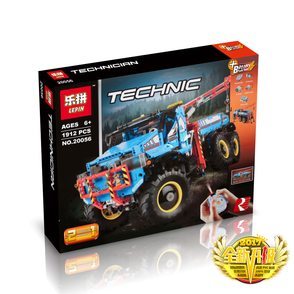 1912+ PCS Building Bricks, LP 20056 Building Blocks Technic 42070 6x6 All Terrain Tow Truck.