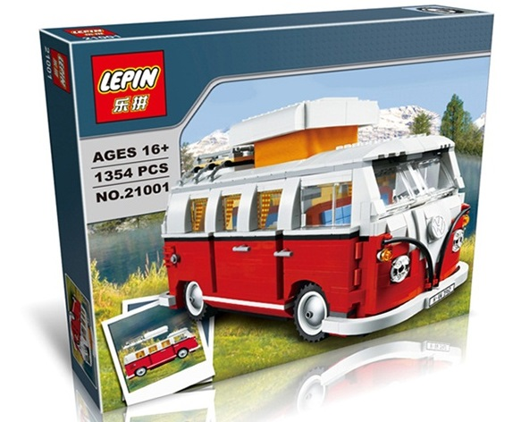 1354+ PCS Building Bricks, LP 21001 Building Blocks Creator 10220 Volkswagen T1 Camper Van.